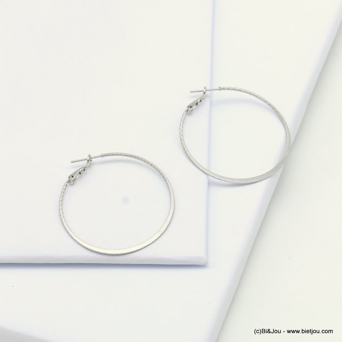 earrings 0319130-13 hoop saddle-back clasp woman 38mm