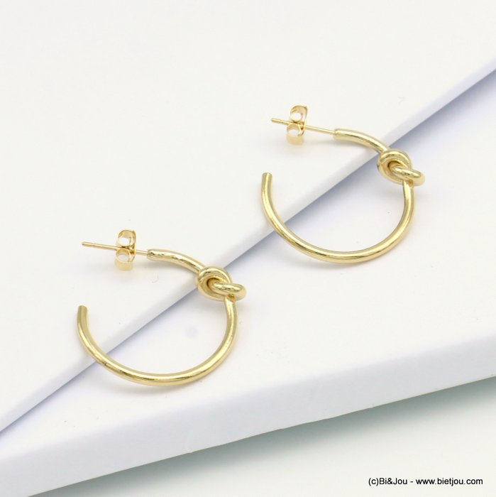 earrings 0319132-14 hoop nail clasp metal 22x30mm