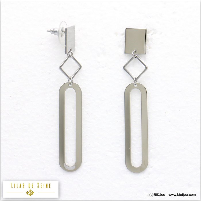 earrings 0319558-13 stud clasp metal 11x73mm