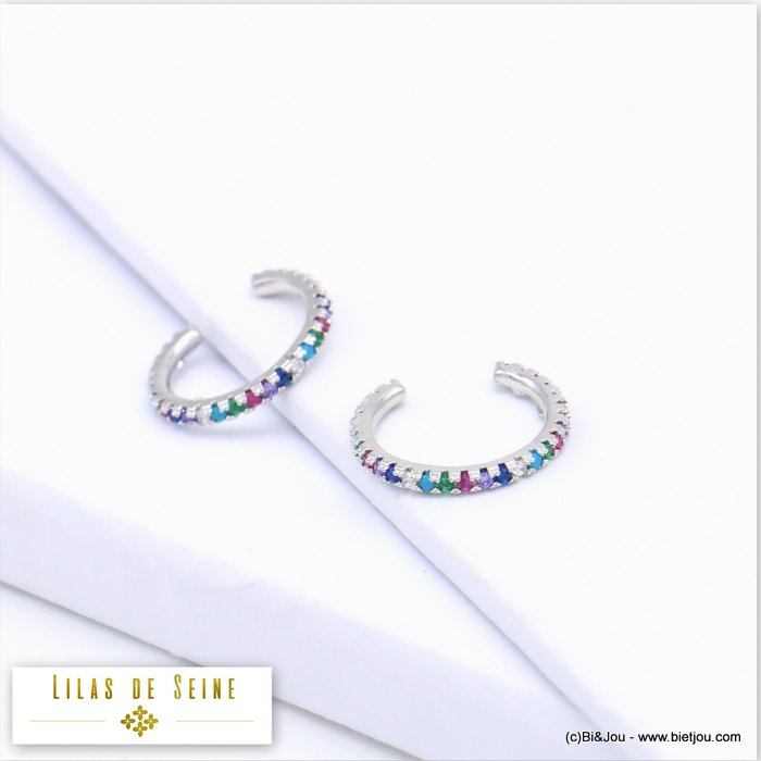 ear cuff 0319577-13 metal-strass 15x1mm