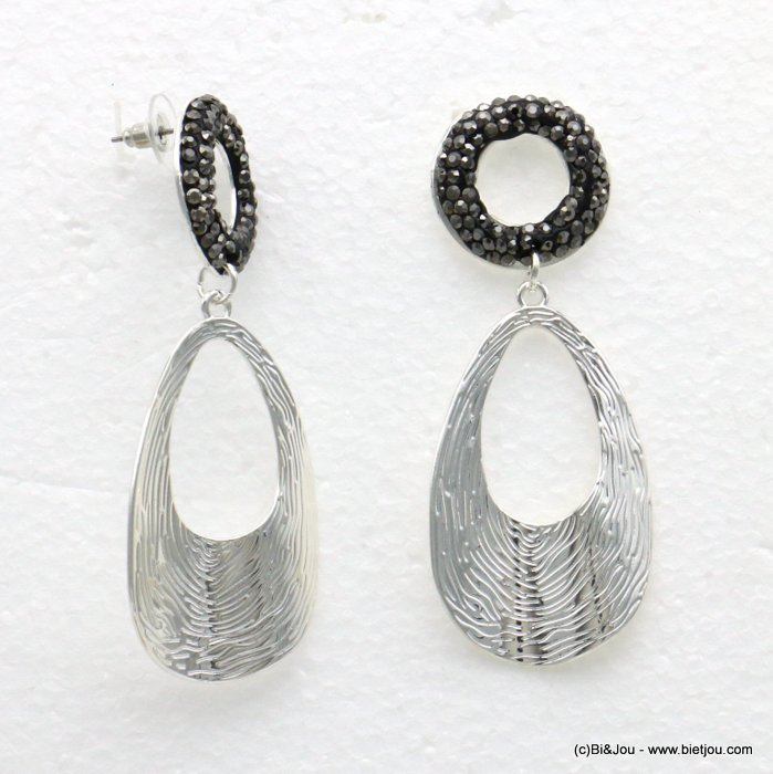 earrings 0319601-13 metal-crystal 29x78mm
