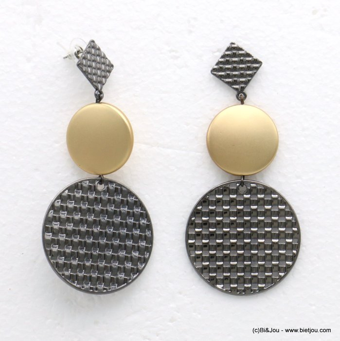 earrings 0319603-20 metal 39x87mm
