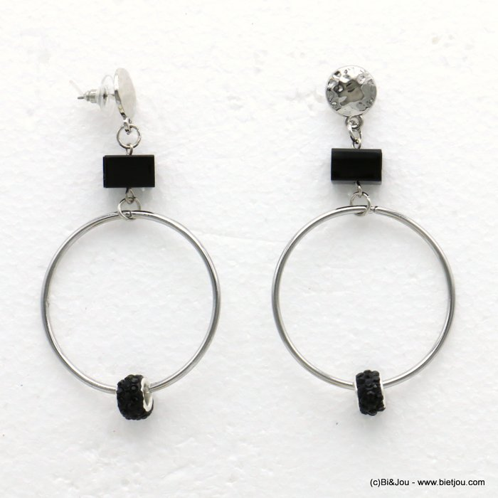 earrings 0319607-13 metal-crystal 43x84mm