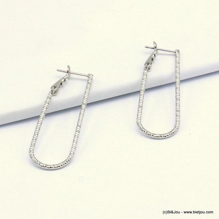 earrings 0319616-13 hoop saddle-back clasp woman 13x40mm