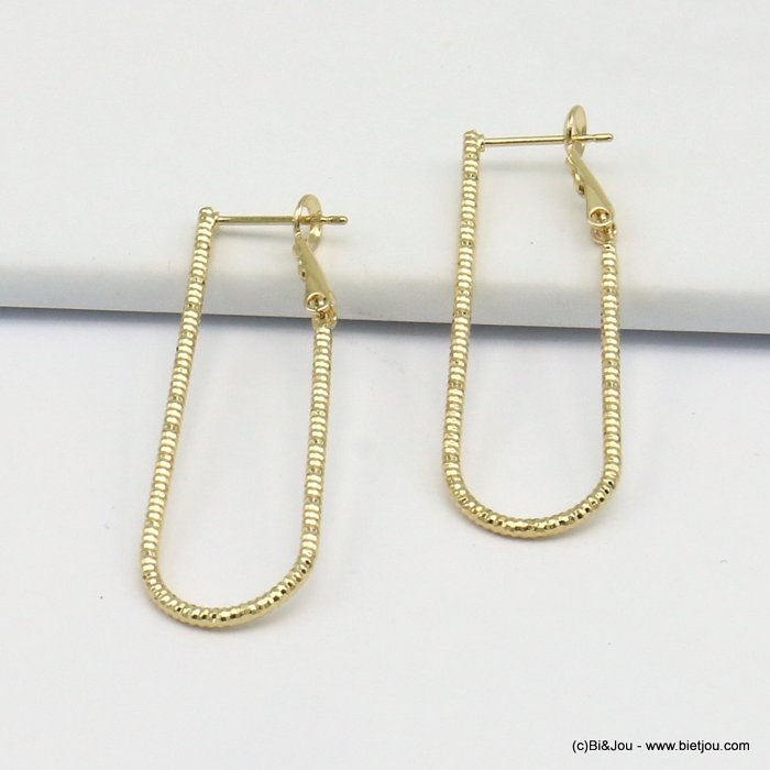 earrings 0319616-14 hoop saddle-back clasp woman 13x40mm