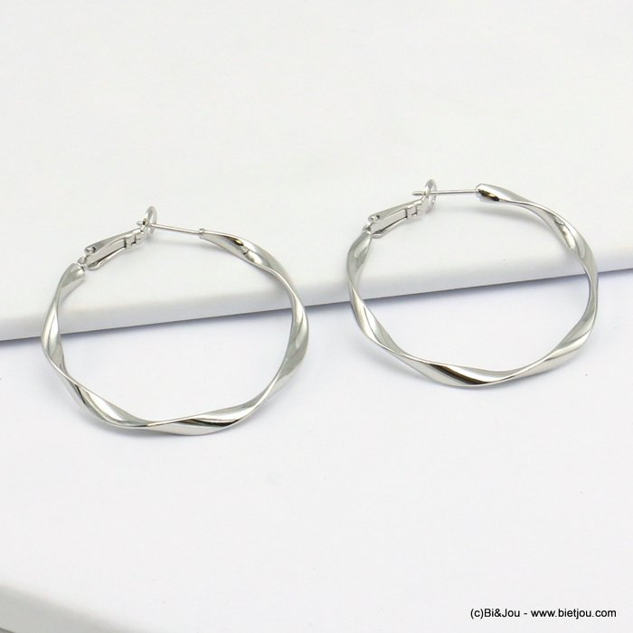 earrings 0319617-13 hoop saddle-back clasp woman 40mm