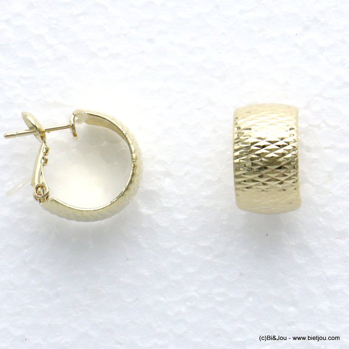 earrings 0319683-14 wide mini hoop metal woman 15x10mm