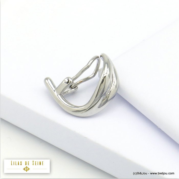 ear cuff 0320114-13 metal minimalist clip-on clap 15x20mm