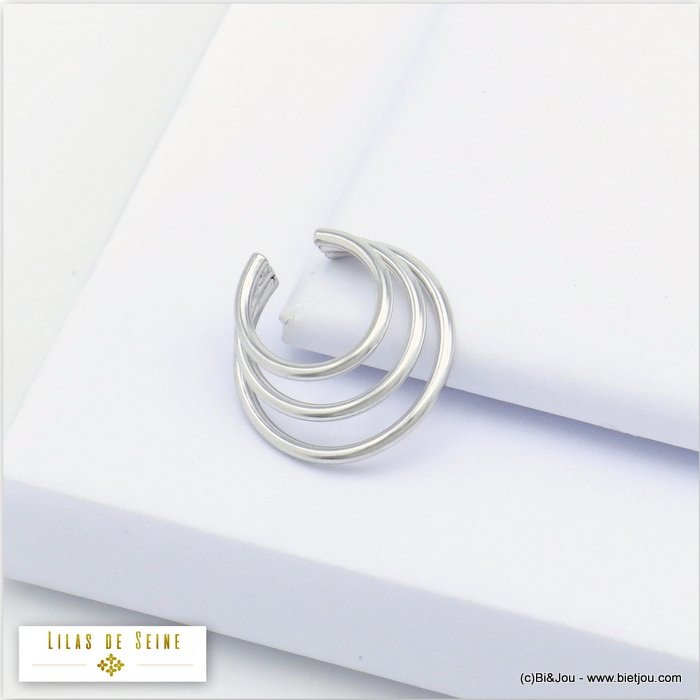ear cuff 0320121-13 metal triple-row minimalist 6x16mm