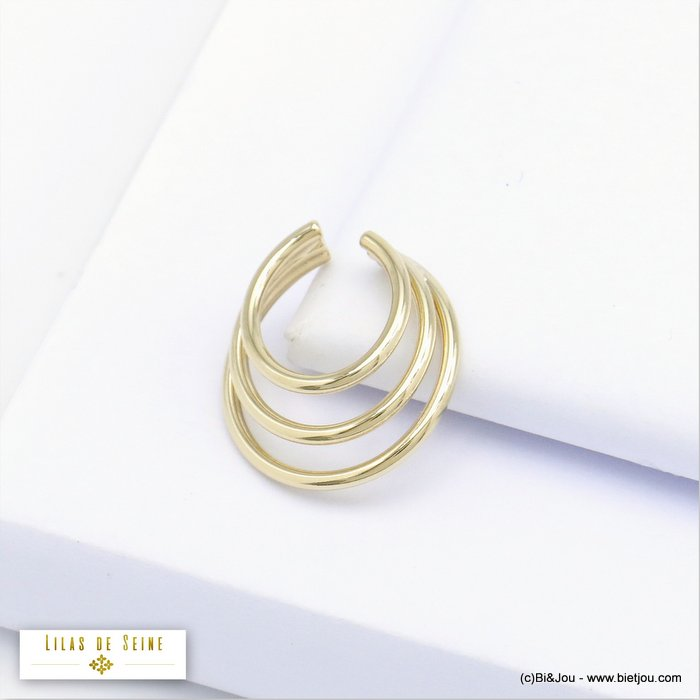 ear cuff 0320121-14 metal triple-row minimalist 6x16mm