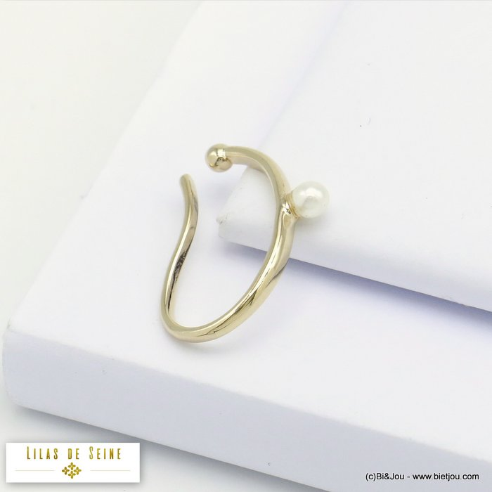 ear cuff 0320122-14 imitation pearl acrylic minimalist metal 20x25mm