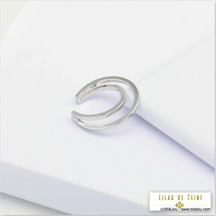 ear cuff 0320126-13 metal double-row minimalist 3x16mm