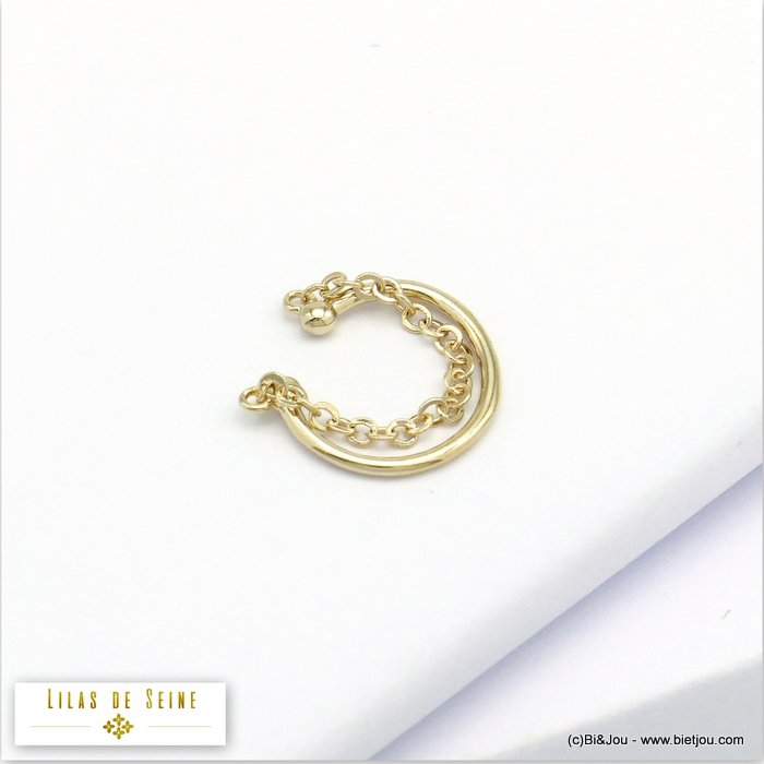 ear cuff 0320130-14 metal chain minimalist 1x12mm