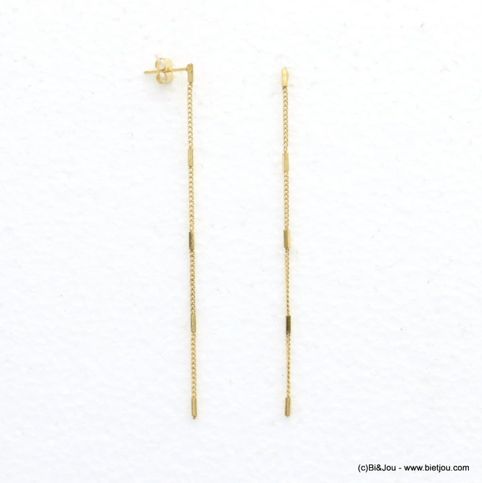earrings 0320559-14 metal thin chain woman 1x90mm
