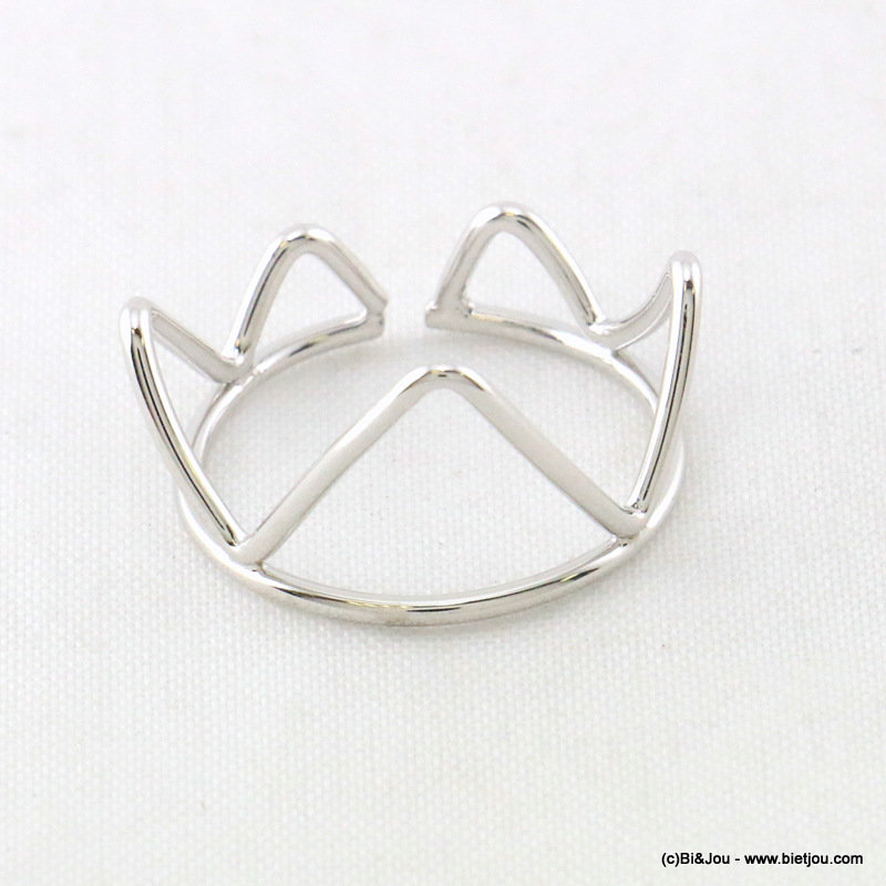 finger ring 0417009-13 minimalist triangles adjustable open 10x17mm metal