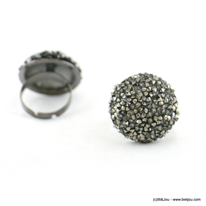 finger ring 0417528-26 adjustable 23mm metal-crystal