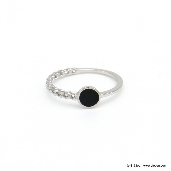 finger ring 0418034-01 minimalist half-chain metal enamel 17mm