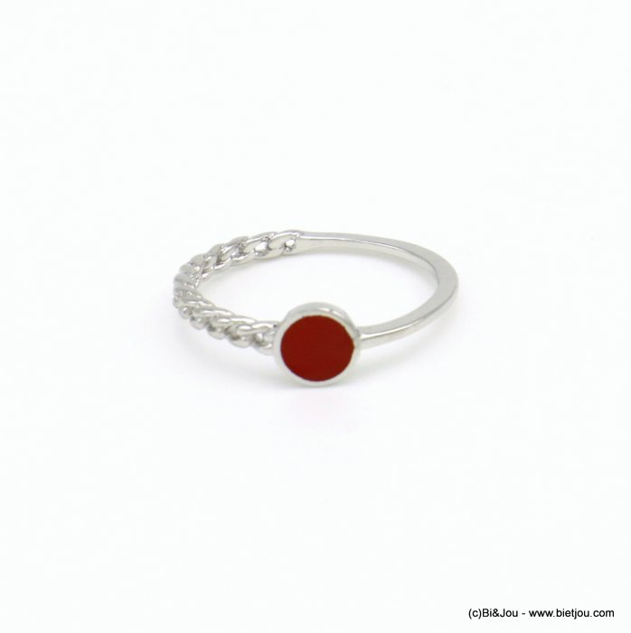 finger ring 0418034-12 minimalist half-chain metal enamel 17mm