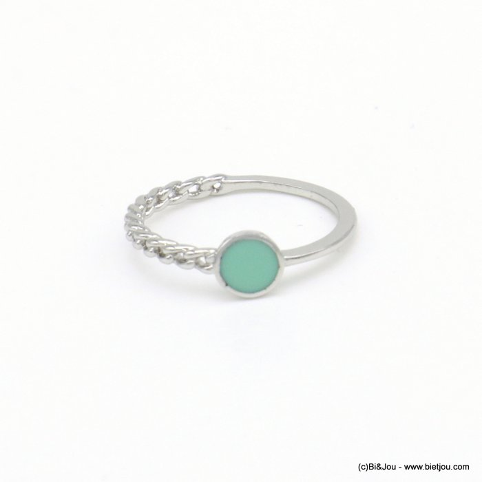finger ring 0418034-17 minimalist half-chain metal enamel 17mm