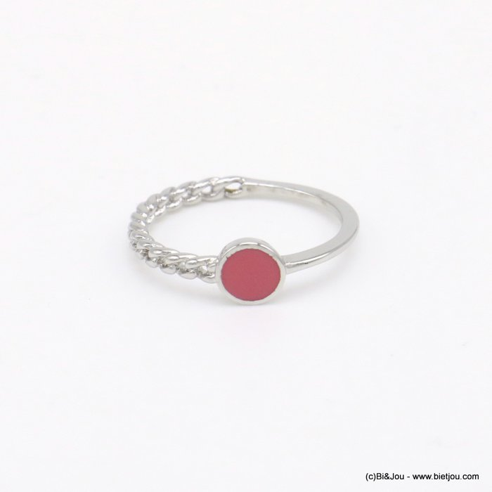 finger ring 0418034-18 minimalist half-chain metal enamel 17mm