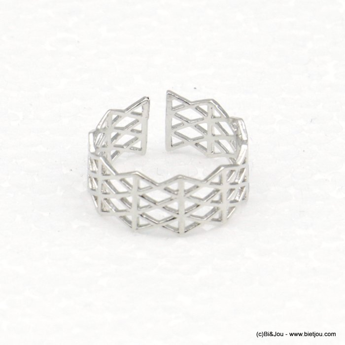 finger ring 0418521-13 lace adjustable geometric 15mm woman