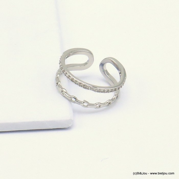 ring 0419502-13 opened adjustable metal-strass