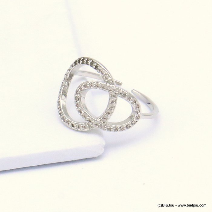 ring 0419508-13 opened adjustable metal-strass