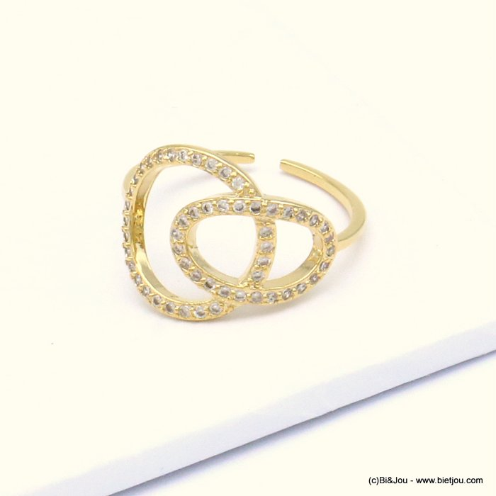 ring 0419508-14 opened adjustable metal-strass