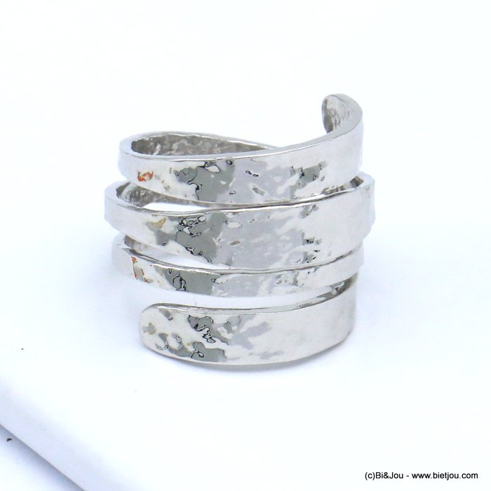 finger ring 0419509-13 spring style hammered metal woman 16x20mm