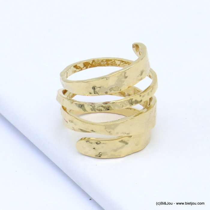 finger ring 0419509-14 spring style hammered metal woman 16x20mm