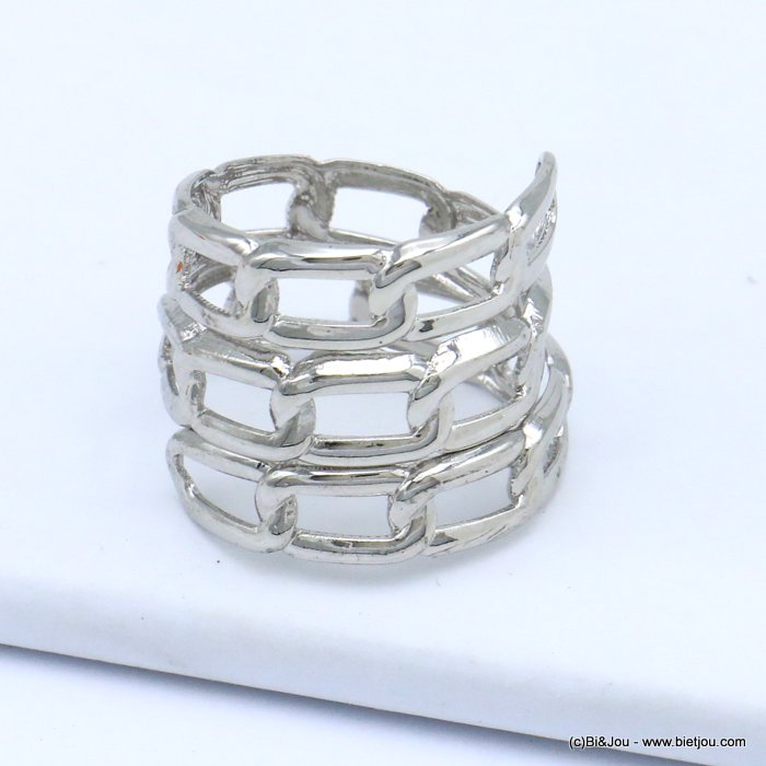 finger ring 0419510-13 chain style metal woman 16x20mm