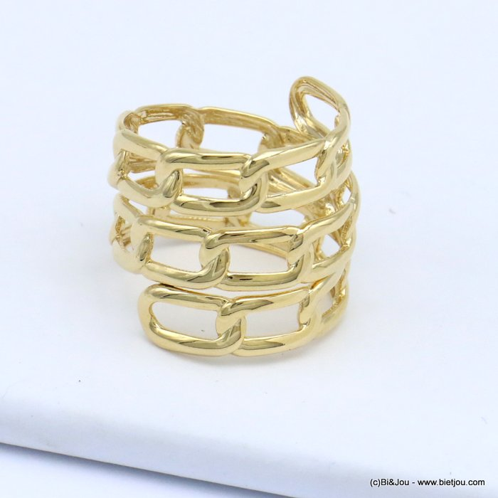finger ring 0419510-14 chain style metal woman 16x20mm