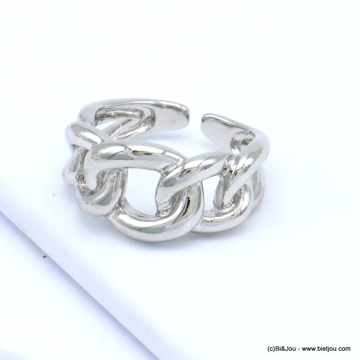 finger ring 0419511-13 open chain style metal woman 18x12mm