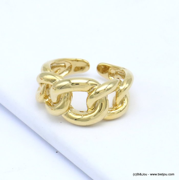 finger ring 0419511-14 open chain style metal woman 18x12mm