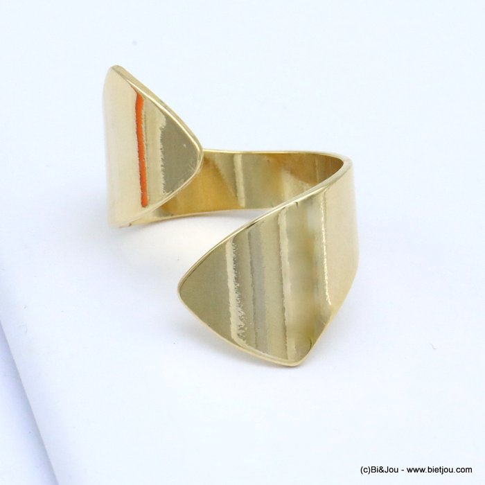 finger ring 0419513-14 contemporary design metal open adjustable woman 17x25mm