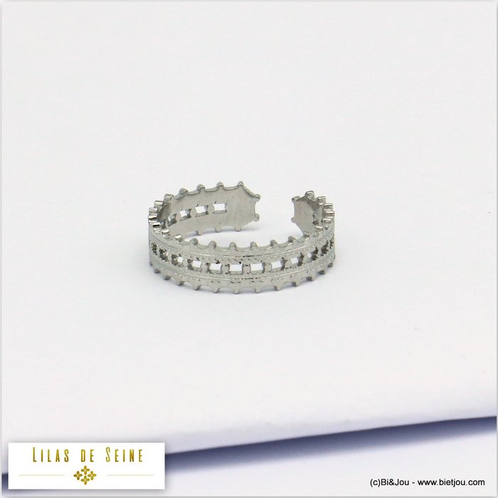 finger ring 0419522-13 adjustable stainless steel 18x5mm