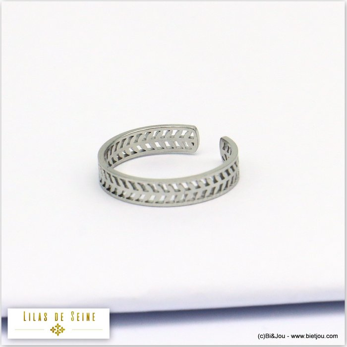 finger ring 0419523-13 adjustable stainless steel 18x3mm