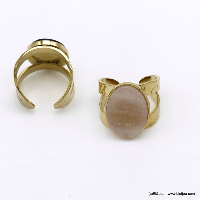 finger ring 0420025-27 natural stone open adjustable woman 14x18x17mm
