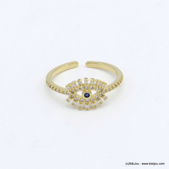 finger ring 0420028-14 golden strass protector eye metal woman