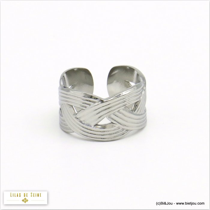 finger ring 0420516-13 stainless steel braided woman