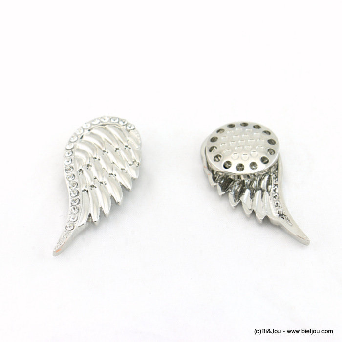 brooch 0517513-13 wing 27x57mm magnetic clasp strass-metal