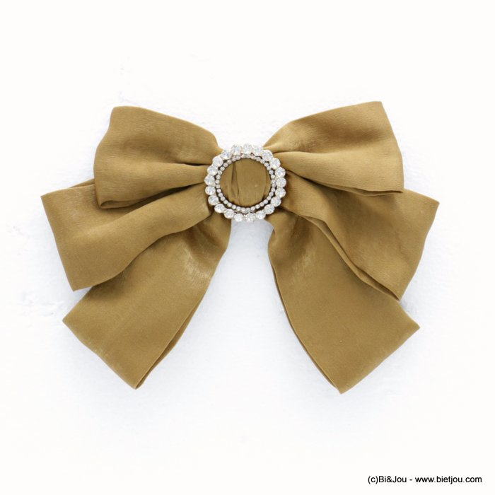 brooch 0518508-14 oversize bowknot synthetic fabric rhinestone metal woman 18x12cm