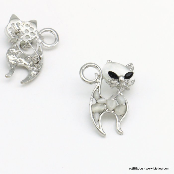 brooche 0519004-13 cat metal-glass-strass 30x45mm