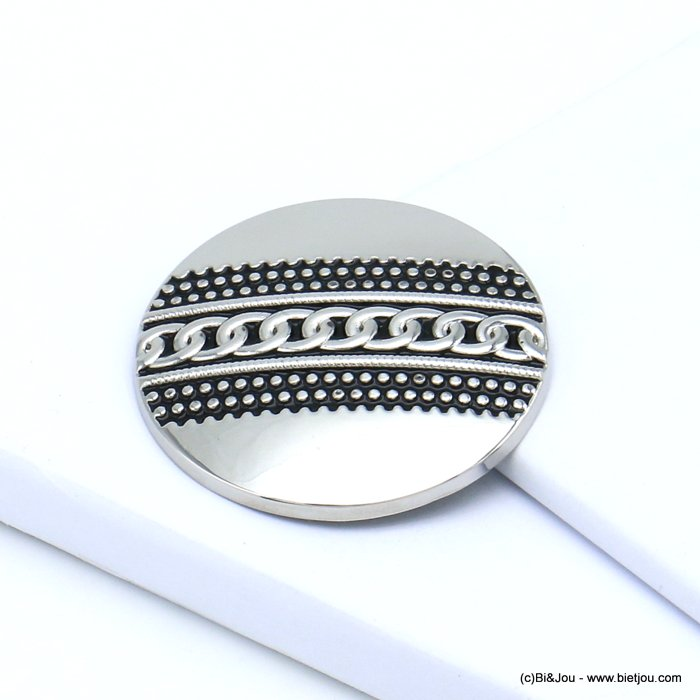 brooch 0519512-13 chain magnetic round metal 45mm