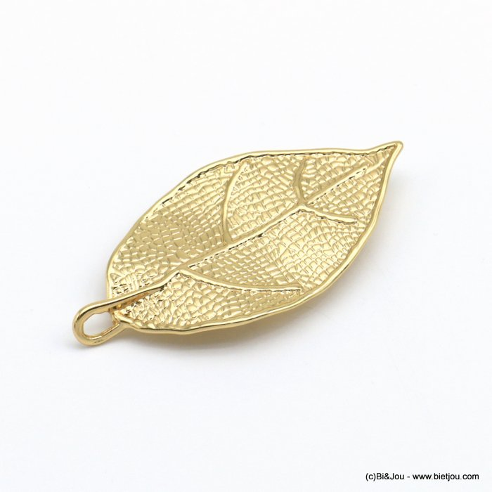 brooch 0520502-14 magnetic metal leaf woman 25x50mm