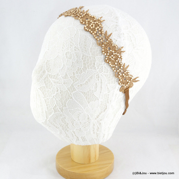 hair band 0615512-14 lace-strass-elastic