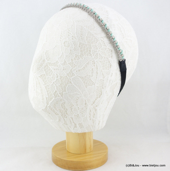hair band 0616010-39 synthetic-metal-strass-elastic