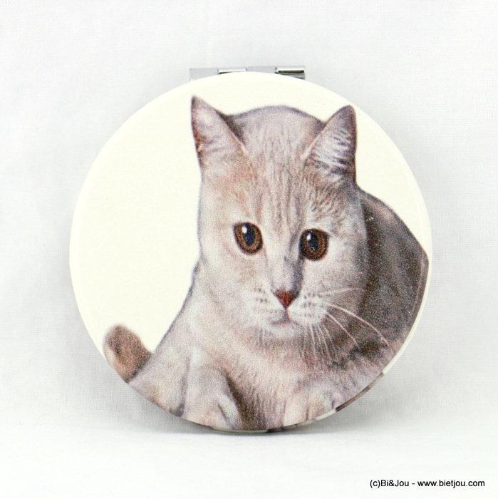 Miroir de poche 0617023 25 chat 62mm double face 2 miroirs for Miroir des chats