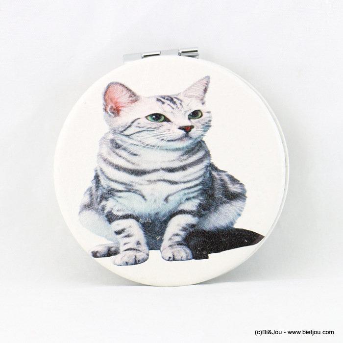 Miroir de poche vintage chat miroir effet loupe 0617507 19 grossiste accessoires mode bi jou for Miroir loupe