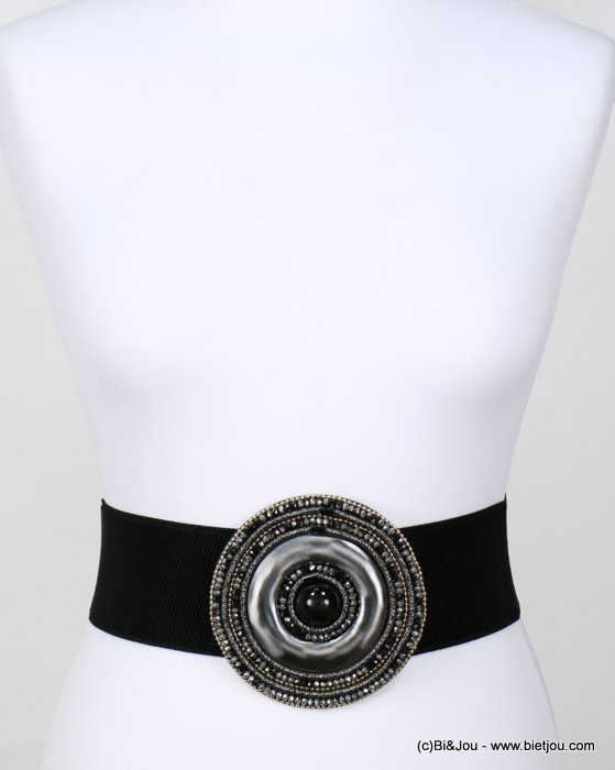belt 0618523-01  elastic-metal-crystal-acrylic